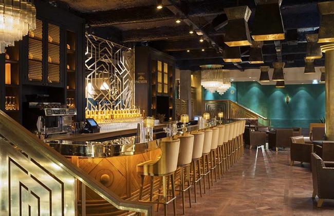 La barra del restaurante para mejorar el diseño