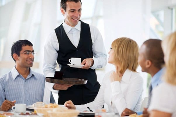 El cliente es lo primero en un restaurante