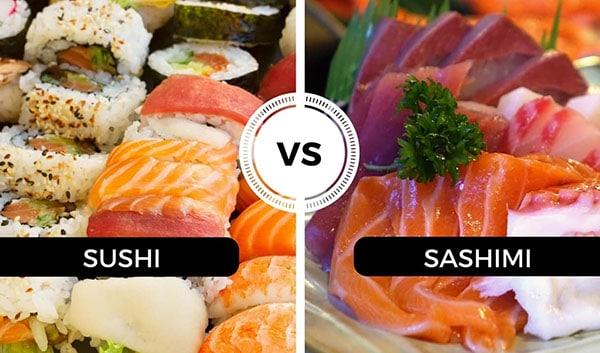 diferencia entre sushi y sashimi