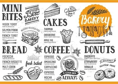 tamaño y estilo de fuente en menús de restaurantes