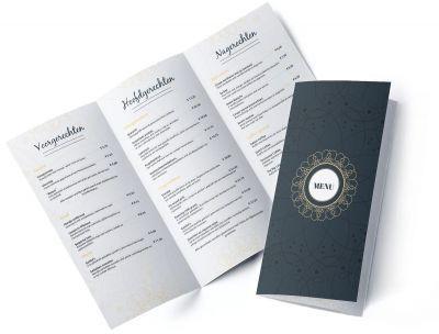 menú a la carta de un restaurante