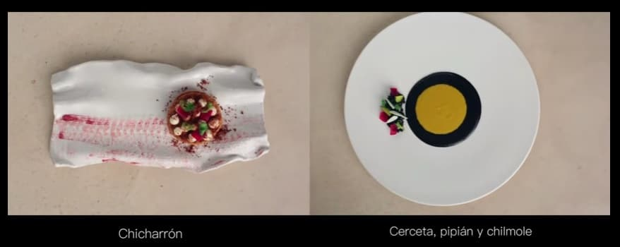 platos del menú degustación