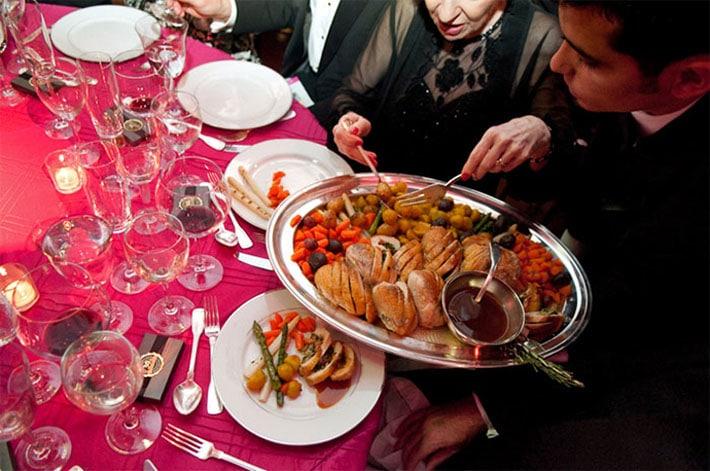 Tipo de servicio frances en restaurantes