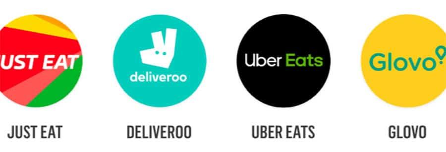 plataformas de delivery just eat deliveroo glovo y uber eats