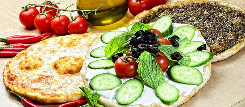 Comida libanesa pizza manakish