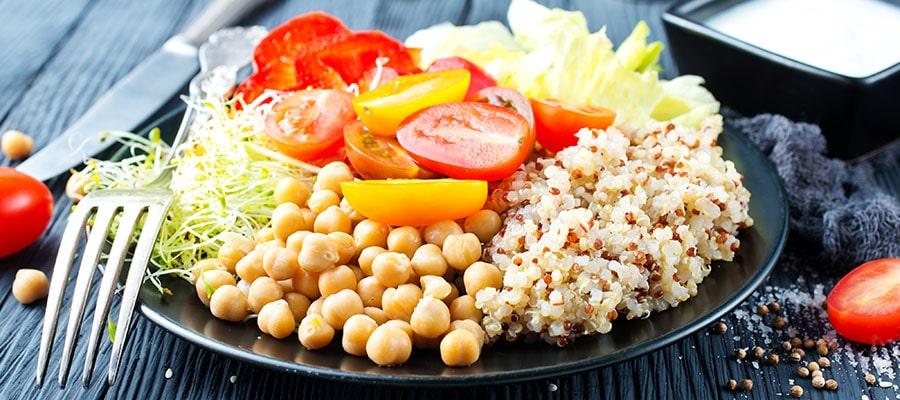 Menu vegano para restaurante ecológico
