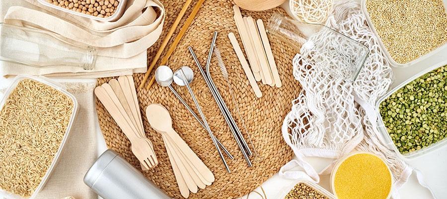 eliminar plásticos en un restaurante ecológico