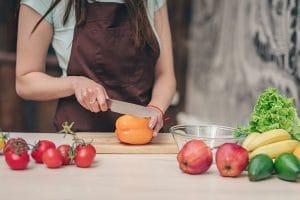 Tipos de cortes de verduras y hortalizas en cocina