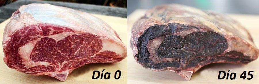 Cómo se hace la maduración de la carne