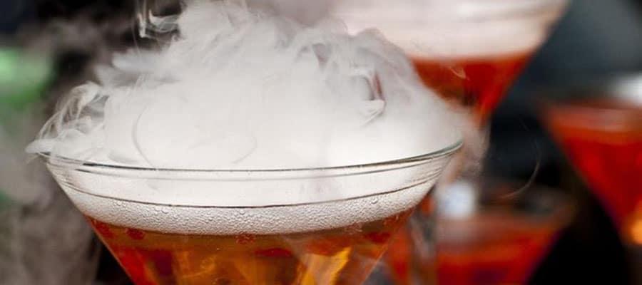 Receta de mixología, humo de cerveza